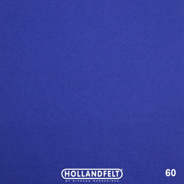 100% Wool Felt Colour 60 - Cobalt Blue