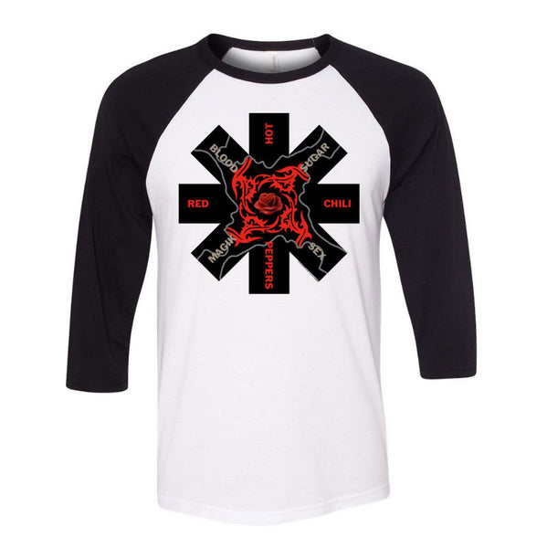 Blood Sugar Sex Magik Asterisk White & Black Raglan