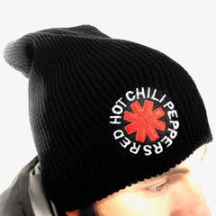 Classic Asterisk Black Slouch Beanie