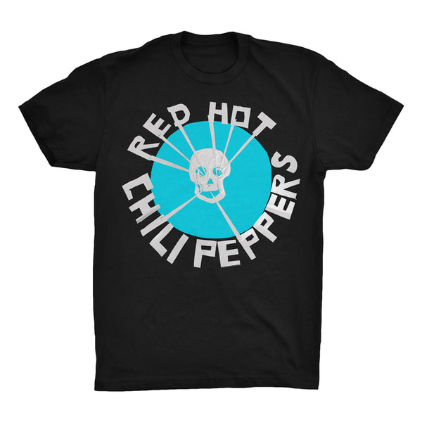 Flea Skull Black & Teal T-Shirt