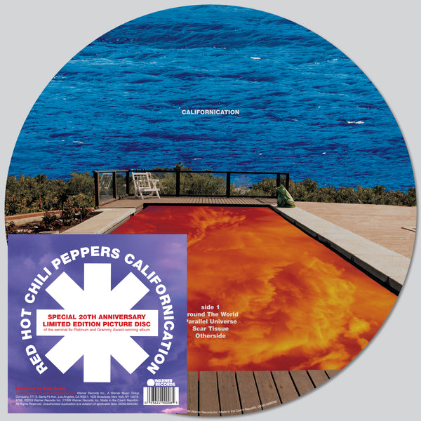 PRE ORDER 20th Anniversary LIMITED Californication Picture Disc