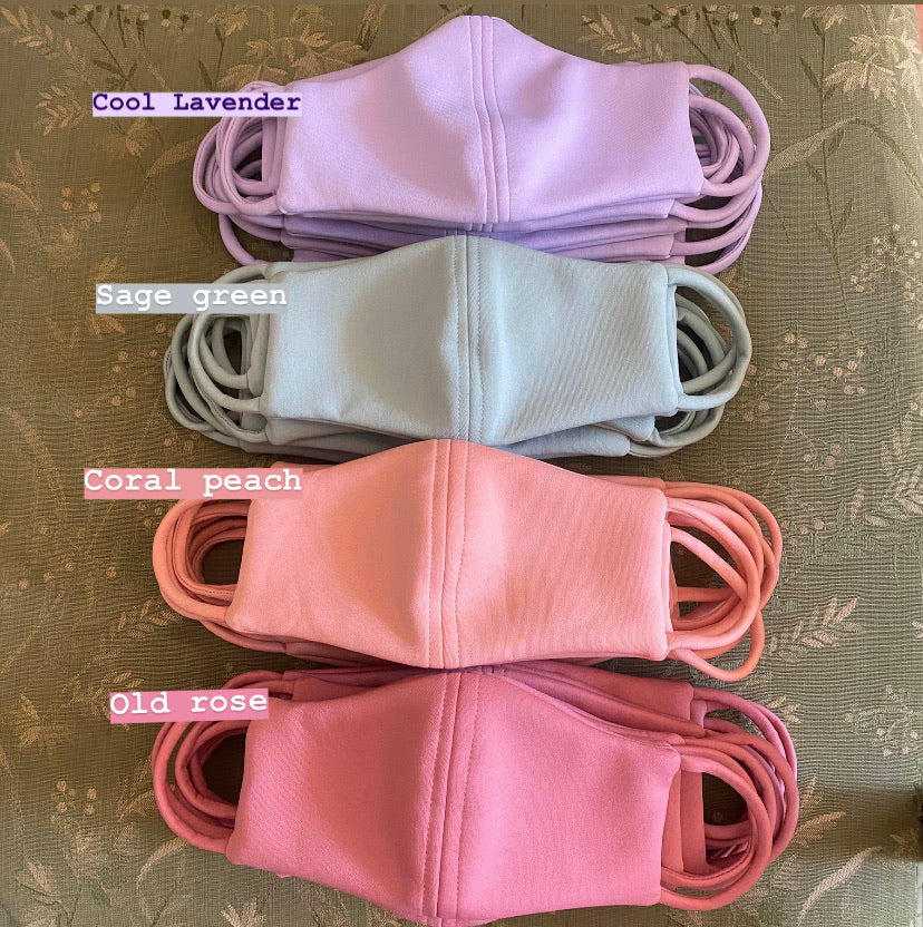 Pastel Neoprene Reusable Masks (4 pcs in 1 set)