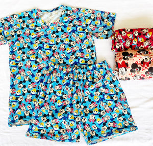 Comfy Mickey&Friends/HelloKitty Lounge Set (top with sleeves)