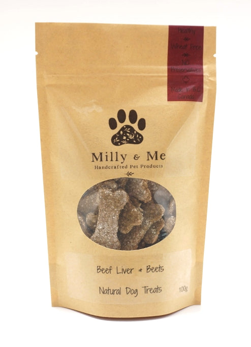 Beef Liver & Beets Natural Dog Treats - WHEAT FREE