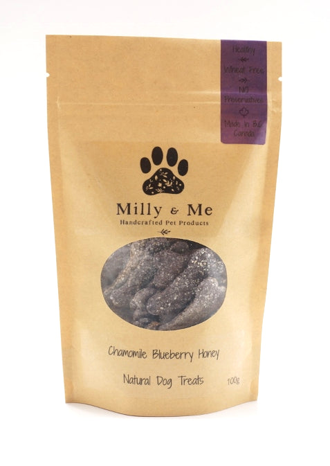 Chamomile Blueberry Honey Natural Dog Treats - WHEAT FREE