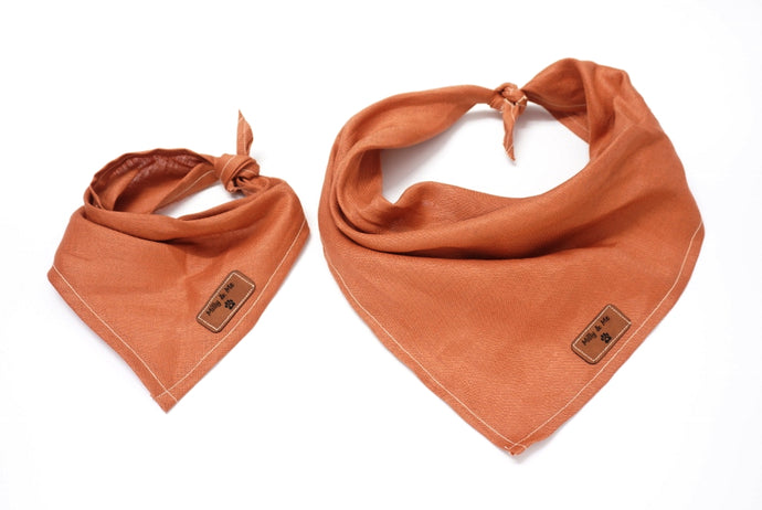 Copper - Pure Linen Bandana