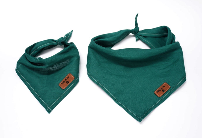 Evergreen - Pure Linen Bandana