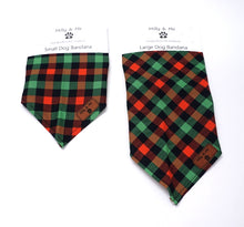 Load image into Gallery viewer, Green Orange Plaid - Bandana