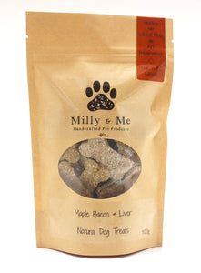 Maple Bacon & Liver Natural Dog Treats - WHEAT FREE