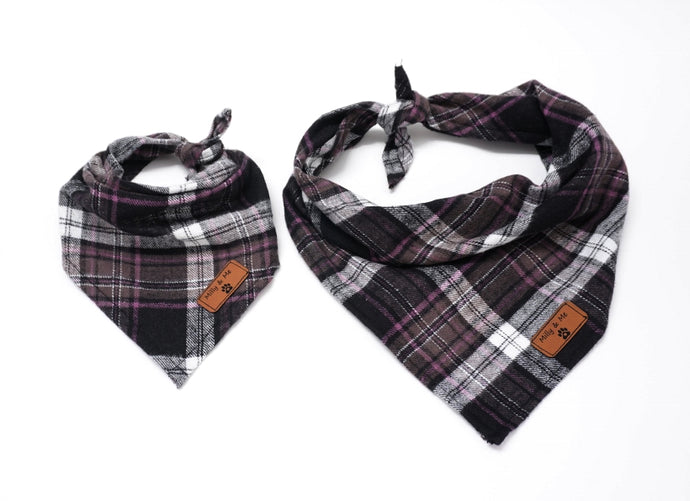 Pink & Brown Plaid - Bandana