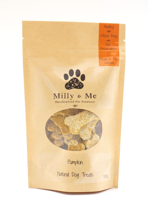 Pumpkin Natural Dog Treats - WHEAT FREE