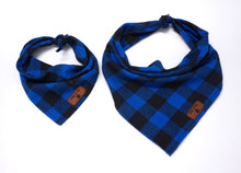 Royal Blue Buffalo Plaid - Bandana