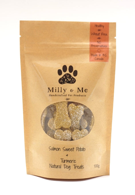 Salmon Sweet Potato & Turmeric Natural Dog Treats - WHEAT FREE