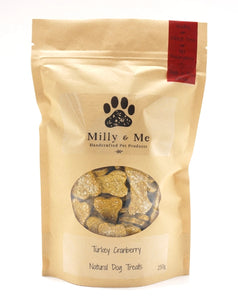 Turkey Cranberry Natural Dog Treats - WHEAT FREE