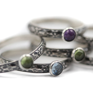 Botanical Gemstone Rings