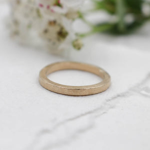 9ct matt gold ring - size UK M, US size 6.5