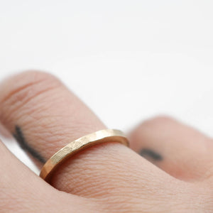 9ct matt gold ring - made to order