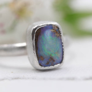 Pipe Opal Ring - size UK P, US 8