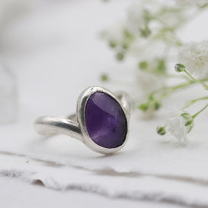 Amethyst Ring size UK K, US 5.5