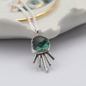 Blue/Green Tourmaline all seeing eye pendant