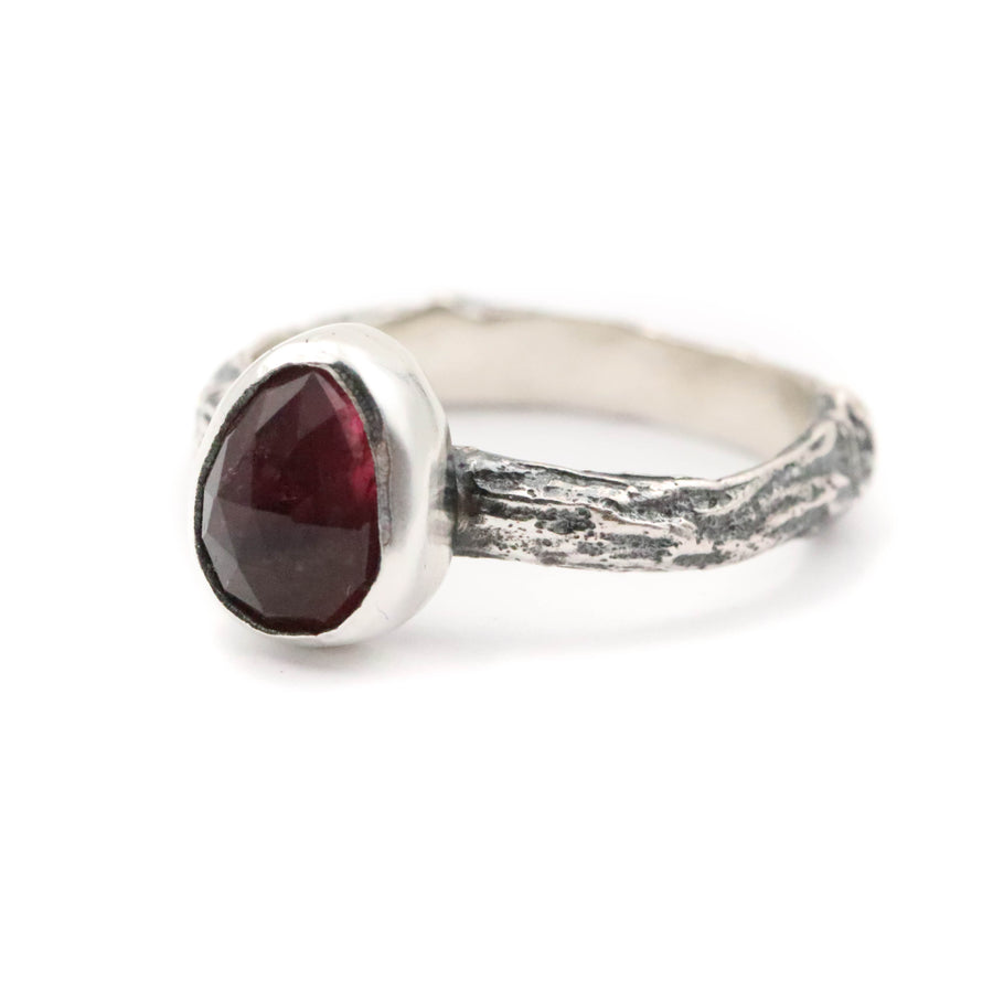 Pink Tourmaline Forest ring size UK R // US 9