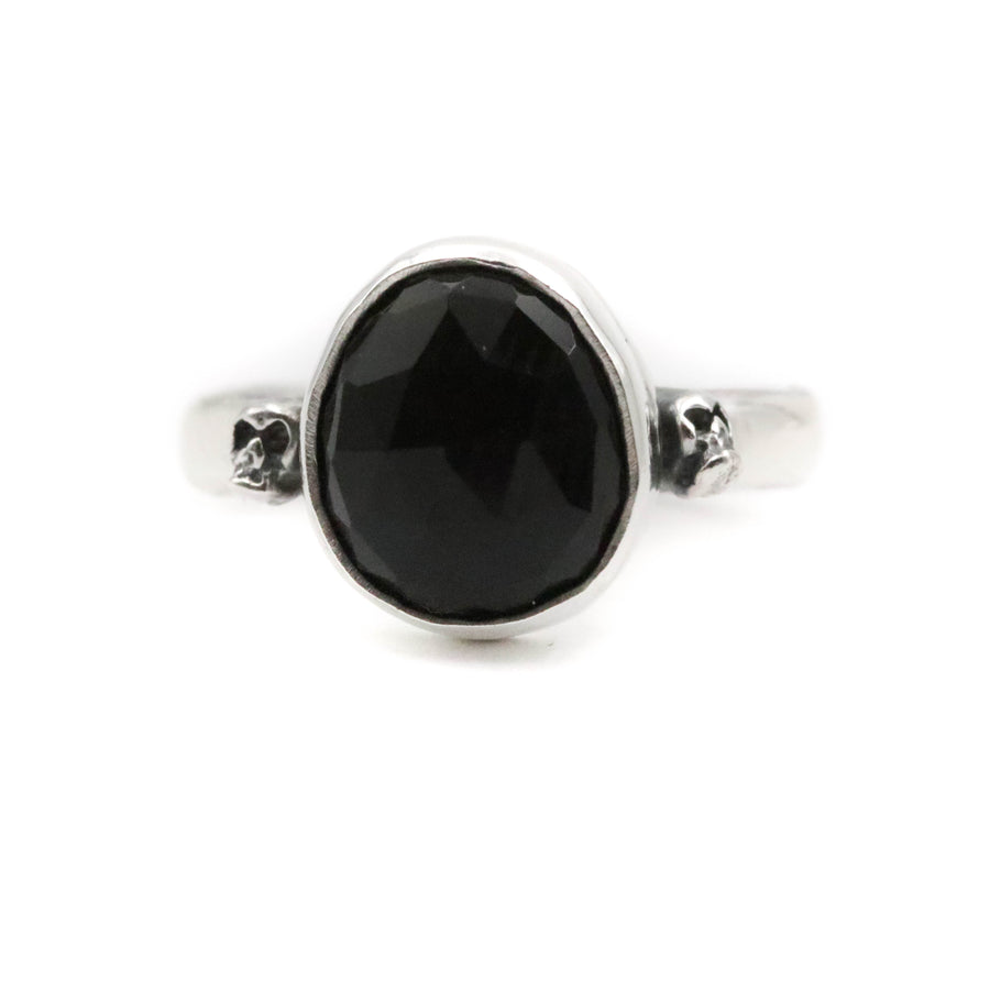 Onyx Skully Ring size UK R, US 9