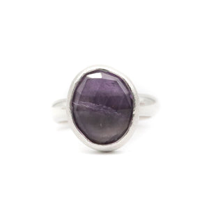 Amethyst Ring size UK N, US 7