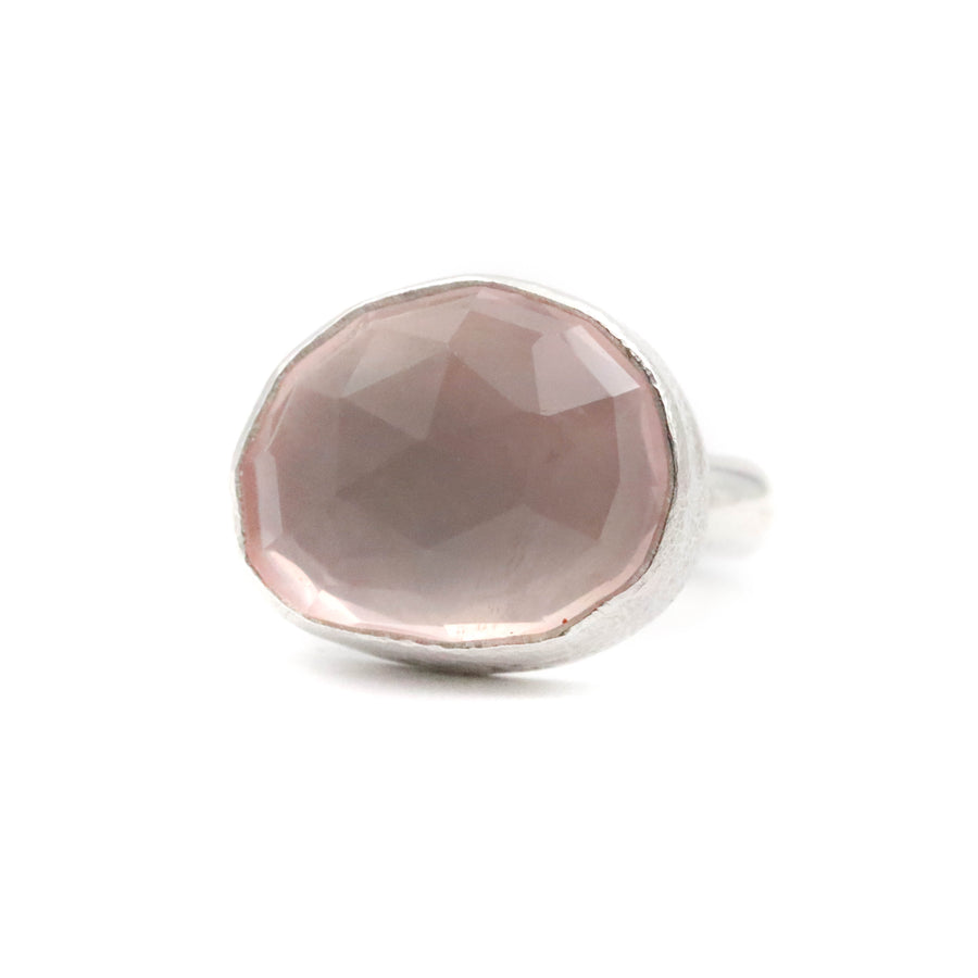 Rose Quartz Ring size UK J, US 5