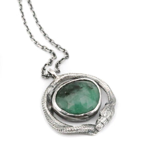 Cosmic Serpent - Emerald pendant