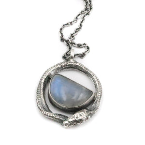 Cosmic Serpent - Moonstone pendant
