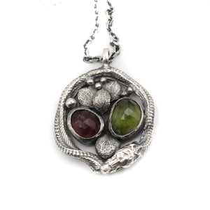 Cosmic Serpent - Tourmaline pendant
