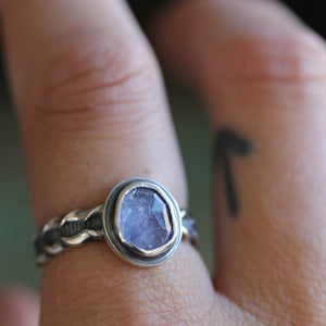Tanzanite Ring size UK Q, US 8.5