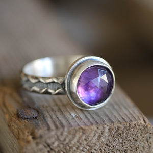 Amethyst Ring size UK V, US 11