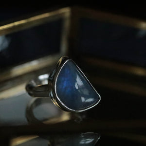 'Just a phase' Moonstone Ring size UK K, US 5.5