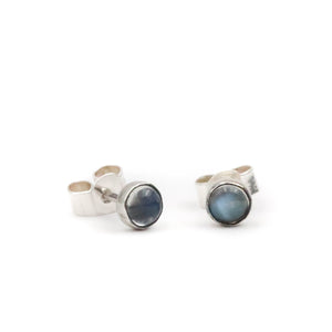 Tiny Moonstone stud Earrings