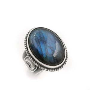 Labradorite Portal Ring - fits size UK R, US 9