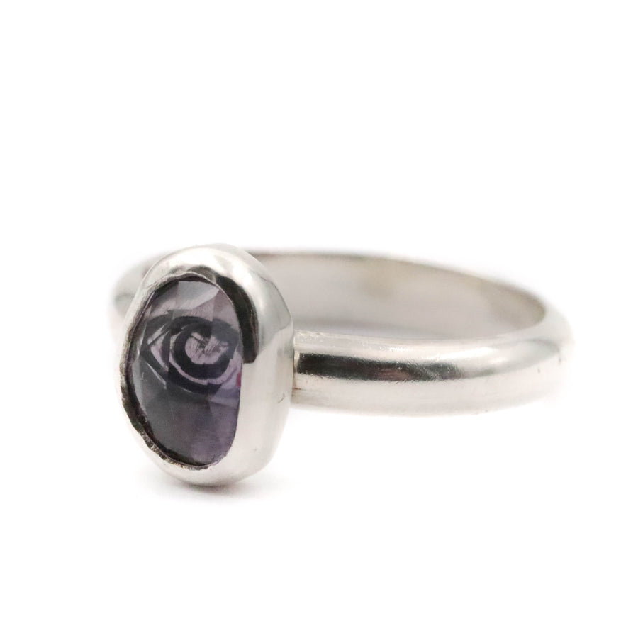 Hidden Eye Amethyst Ring size UK U, US 10.5
