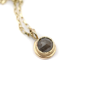 9ct Solid Gold Rustic Diamond Pendant