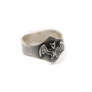 Nocturne - Silver bat ring