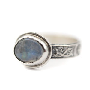 """Serpent and the Moon"" Ring size UK O, US 7.5"