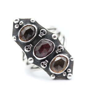 Tourmaline Armour Ring size UK S, US 9.5
