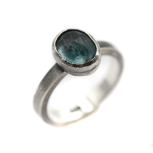 Aquamarine Ring size UK O, US 7.5
