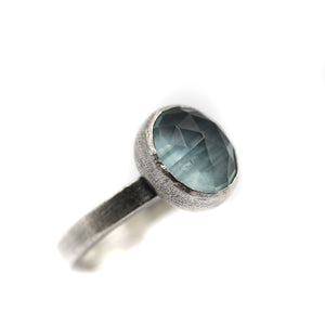 Aquamarine Ring size UK N, US 7