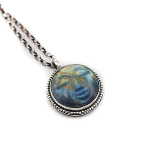 Full Moon Moonstone La Lune pendant