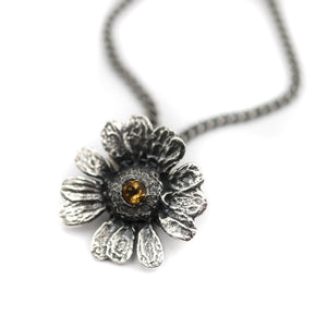 """Hope"" Flower & Citrine pendant"