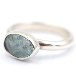 Aquamarine ring - size UK L, US 6
