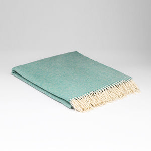 Plaid en laine d'agneau Supersoft - Menthe