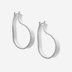 Mesh hoop earrings