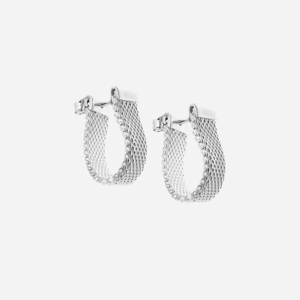 Mesh hoop earrings small