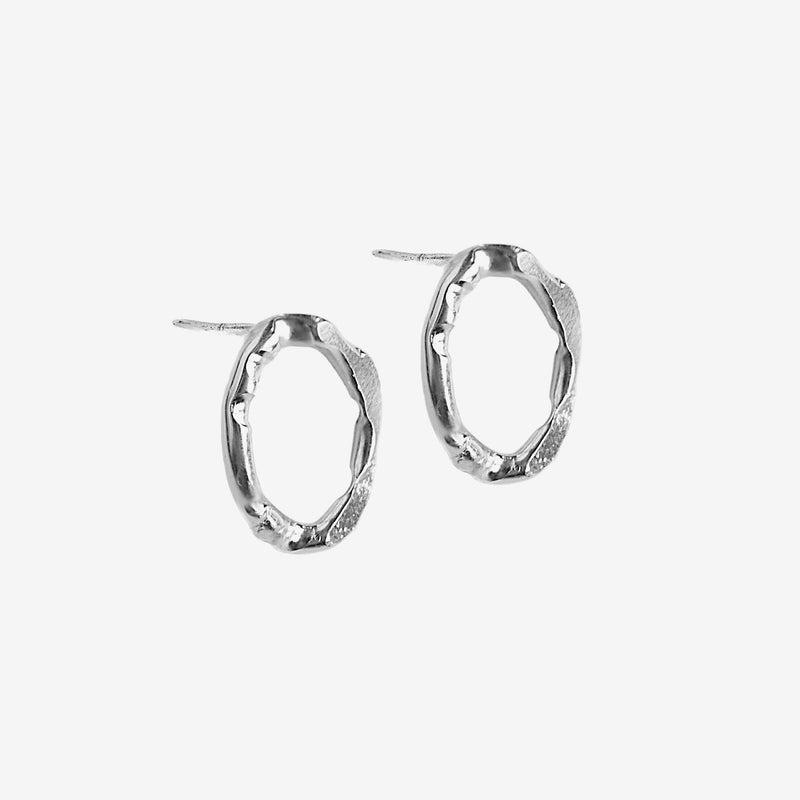 Trace earrings small